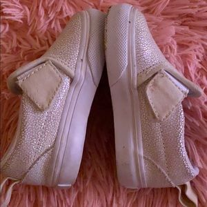 Cute and shimmery baby girls vans